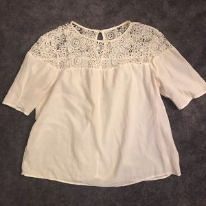 Old Navy Tops - Old Navy Blouse w/ Lace Detail Size M